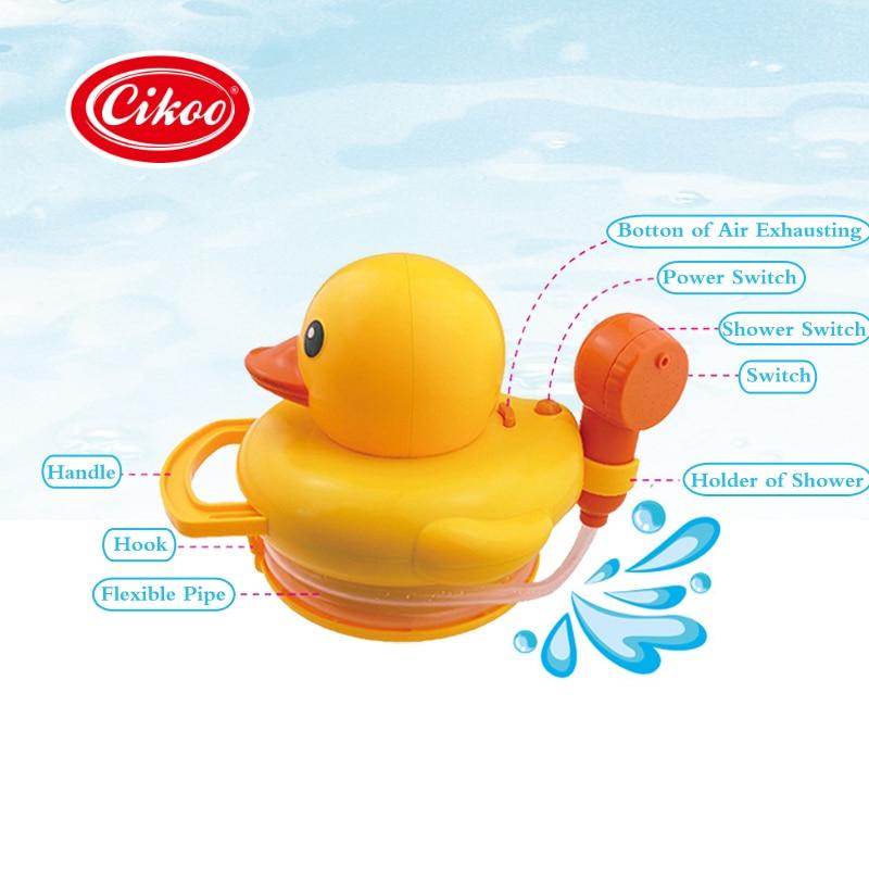 Yellow Duck Shower Head Baby Toys Sprinkler for Kids Faucet Backyard ...