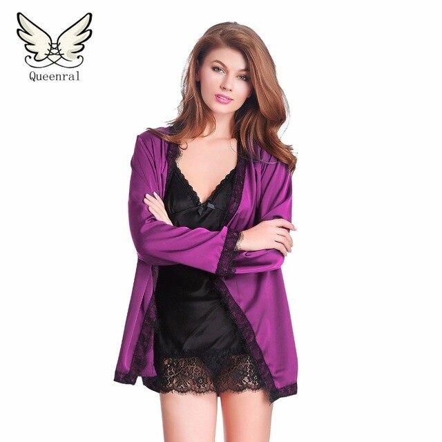 d90ecdd33c Mujeres Albornoz bata ropa de Noche Femenina Bata De casa Camisón Pijama  Ropa de Dormir de