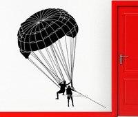 Parachutiste Parachutisme Wall Sticker Décalque de Vinyle Sports Extrêmes salle Home Decor Wall Art De Tatouage Salon Amovible Papier Peint LA592