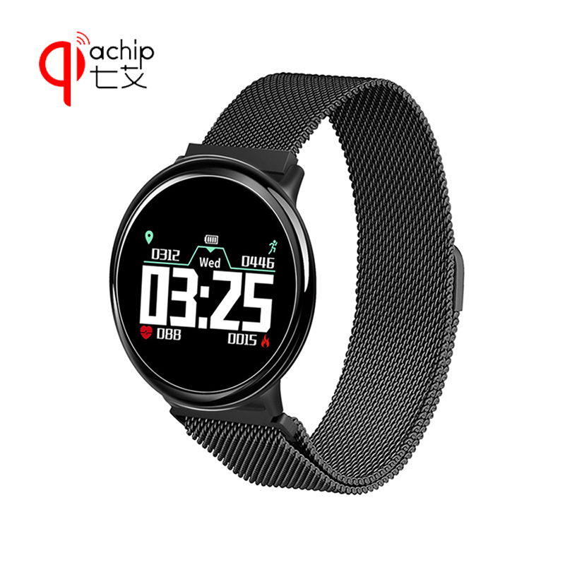 QIACHIP Smart Watch GPS Running Bluetooth 4.0 Sports Smart Watch Heart Rate Monitor Waterproof Android iOS Remote Control Camera dm360 smart wrist watch waterproof heart rate monitor bluetooth ips smart watch remote music alarm clock for ios
