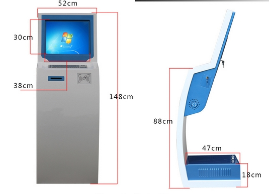 19 Inch Vertical Touch Control Integrated Computer Touch Screen Inquiry Machine Kindergarten Shuttle Card Attendance Kiosk