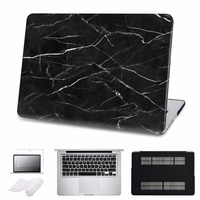 5 In 1 Bundle Marble Hard Case For Macbook Air Pro Retina 13 15 Laptop Cover