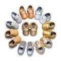 2017 Hecho A Mano Suave Borlas Brillantes Zapatos de Bebé Zapatos de Niño de Primavera Nuevo Diseñador Mocasines Bebé