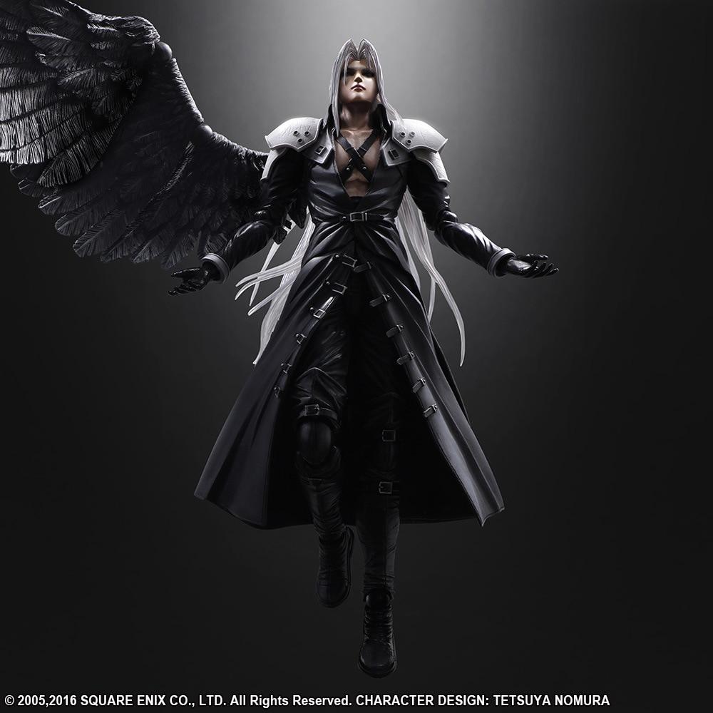 ALEN Anime Game Final Fantasy VII Sephiroth 10 Action Figure Playarts Kai figurine Toys Collection Model Play arts