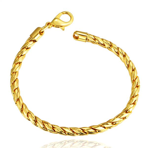 18k Gold Bracelet For Kids Plated Jewelry Bangle Women Chain In Link Bracelets From Accessories On