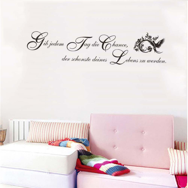 german inspirational quotes wall stickers girls bedroom decoration ...