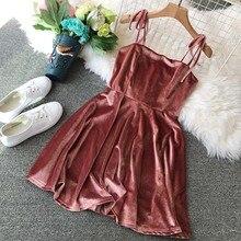 NiceMix Vintage A-line Solid Short Bow Above Knee Mini Regular Natural O-neck Summer  Dress Women Vestidos Vestido Dresse