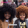 7A Brasileño Afro Rizado Clip En Extensiones de Cabello Extensiones de Cabello Afro Rizado Rizado Clip En Pelo Humano Virginal Sin Procesar Teje