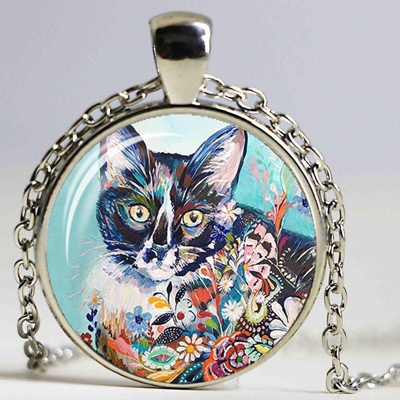 Оптовая продажа художественное ожерелье серебряного цвета с рисунком собаки