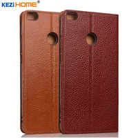 KEZiHOME Xiaomi Mi Max 2 Case Genuine Leather Stand Magnetic Flip Cover Case For Xiaomi Mi