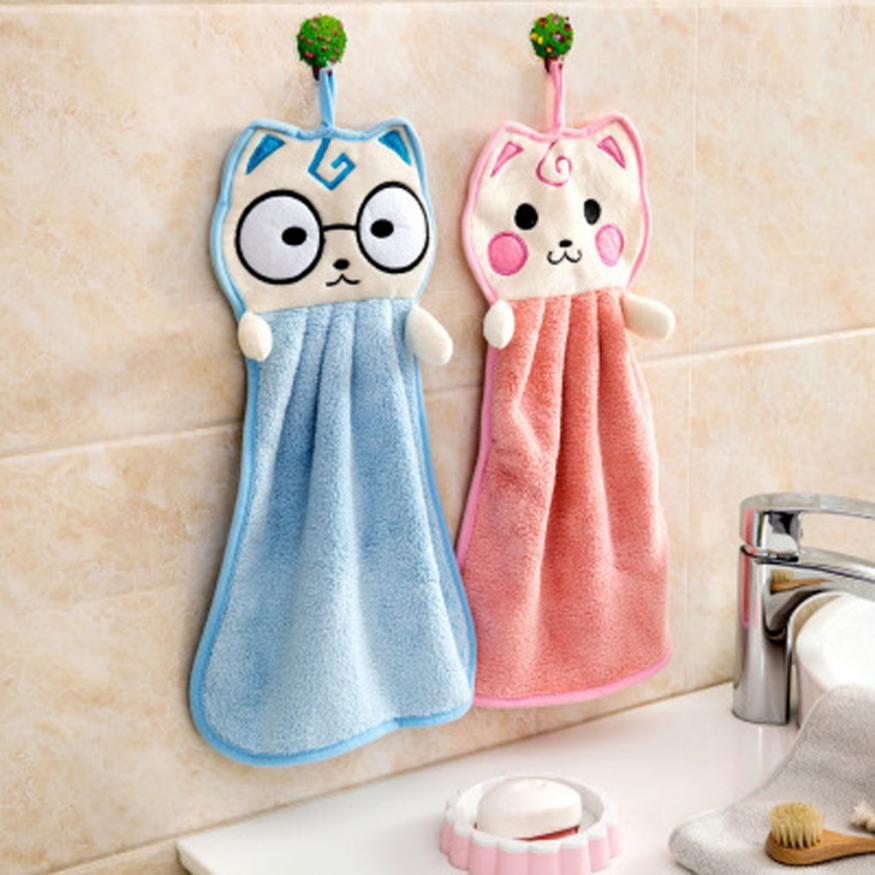 towel microfiber bath Baby Hand Towel New Arrival Cartoon Thickened Towel Kitchen Hanging Water Towel Kitchen