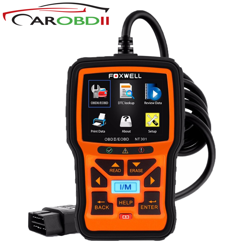 FOXWELL NT301 Universal Car OBD2 Engine Scanner Live Data Codes Auto OBD 2 OBDII EOBD Error Reader Scan Tool Automotive Scaner