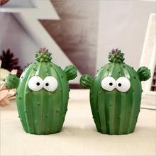 Creative Cartoon Cactus Piggy Bank Resin Crafts Home Desktop Decorations Gifts for Children