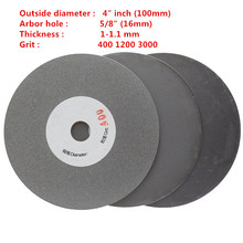 4 inch Diamond Grinding Disc 400 1200 3000 Grit for Angle Gr