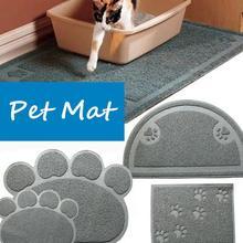 Pet Doormat Petmate Kitty Cat Litter Box Mat Toilet Rug Litter Mat Carpet PVC Dog Dish Bowl Food Water Tray Keep Floor Clean