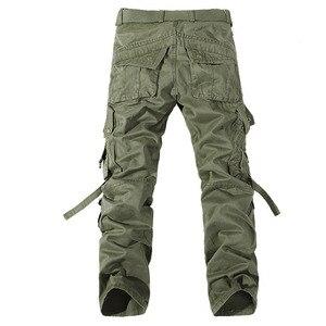 Image 2 - 2019 ใหม่ของผู้ชาย army สีเขียวขนาดใหญ่กระเป๋าตกแต่ง mens Casual กางเกง easy ฤดูใบไม้ร่วงกองทัพกางเกงขนาด 42