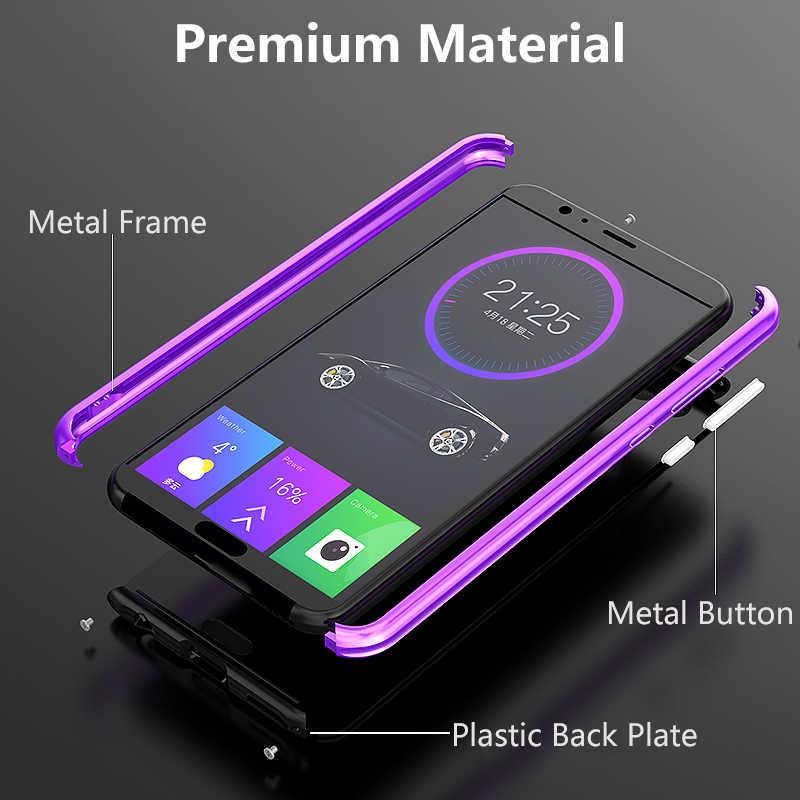 لهواوي الشرف 10 حالة غطاء فاخر معدن الألومنيوم سبائك الصلب ماتي البلاستيك واقية الهاتف حافظة لهاتف Huawei الشرف 10 غطاء