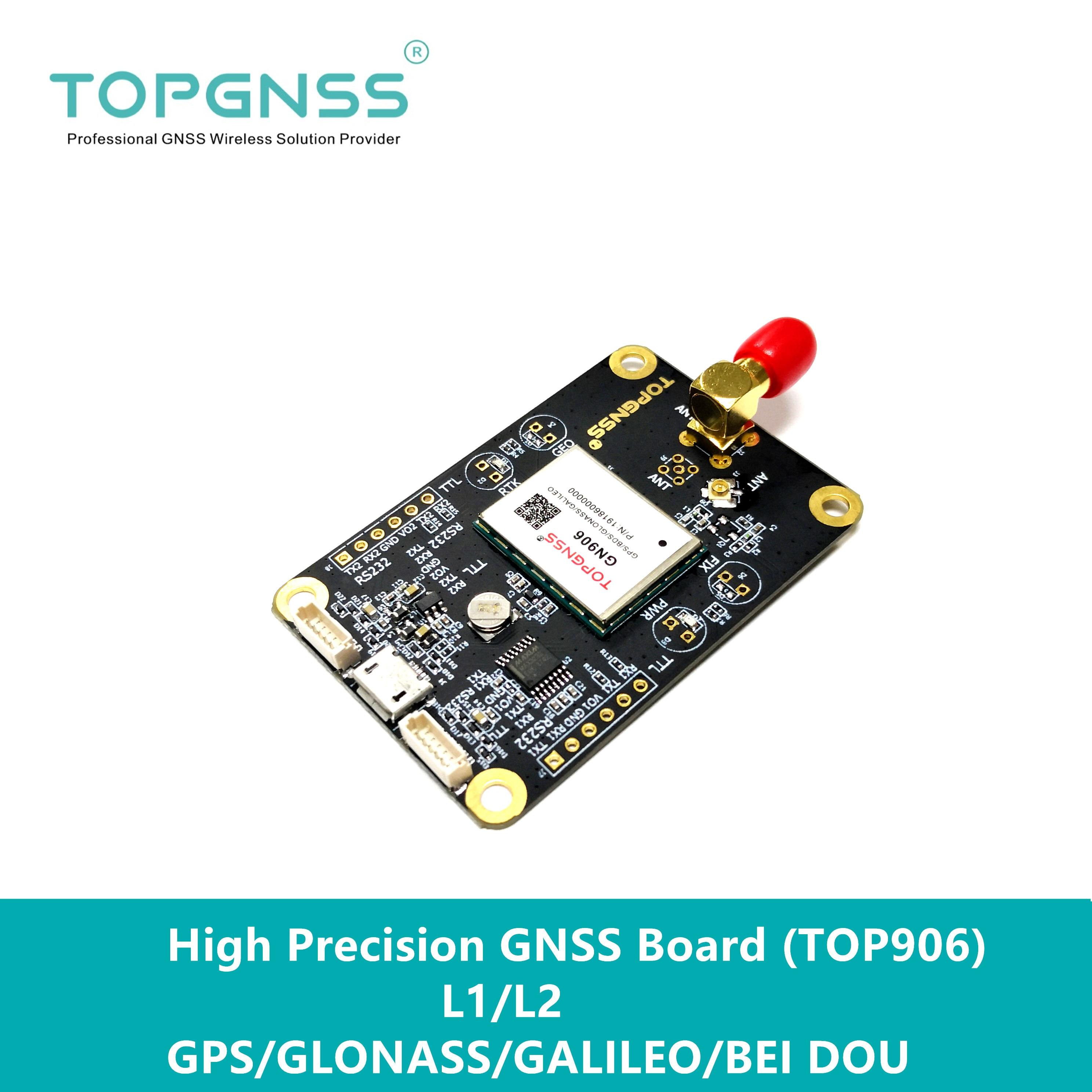 Module de ZED-F9P de module GNSS de haute précision RTK module de sortie de carte GNSS RTCM NMEA TOP906 RTK module de Base aéronef sans pilote (UAV) UGV