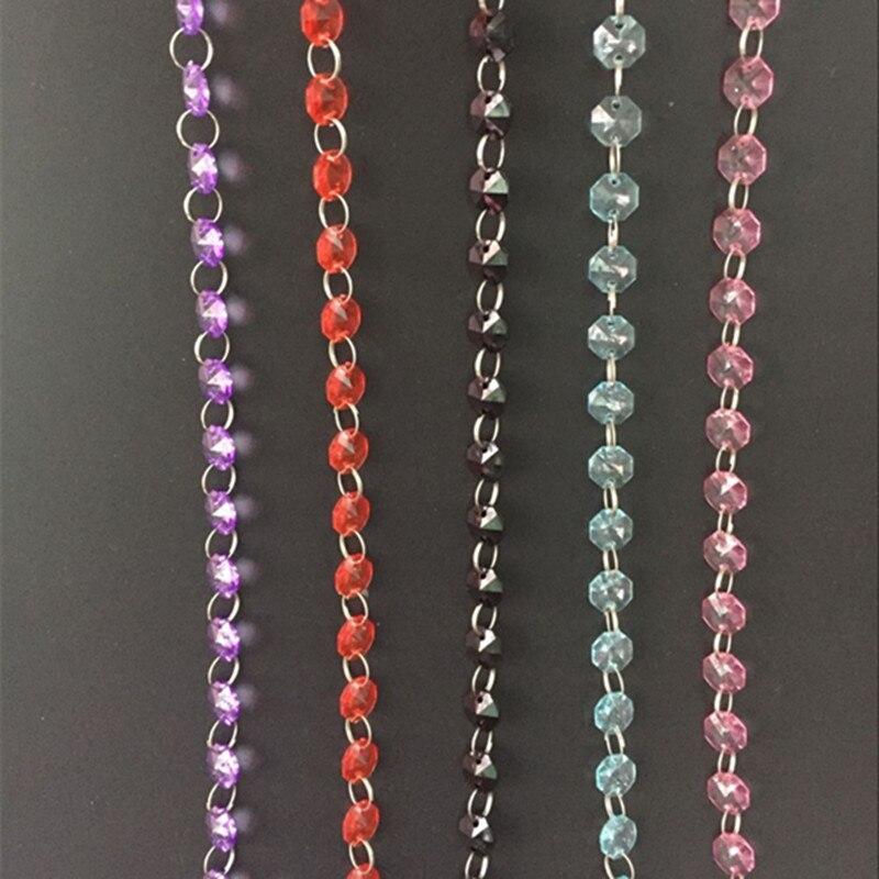 Por Crystal Acrylic Chandelier Beads 10pcs Garland Hanging