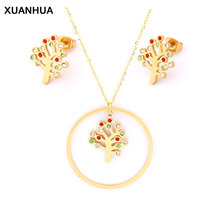XUANHUA Tree of Life Jewelry Sets Stainless Steel Jewelry Wo