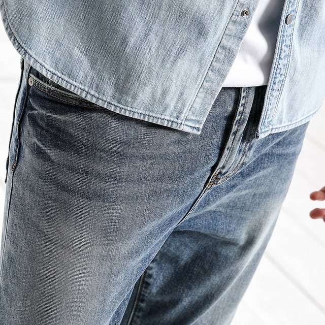 SIMWOOD 2018 Autumn  Summer New Dark Wash Ankle-Length Jeans Men Slim Fit Vintage Basic Blue High Quality Brand Clothing 180057