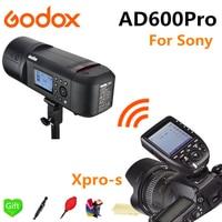 Godox AD600Pro TTL Li-Batterie 2.4G Sans Fil X Système Extérieure Studio Flash Stroboscopique Lumière pour Sony Caméra + Xpro-S Déclencheur Flash