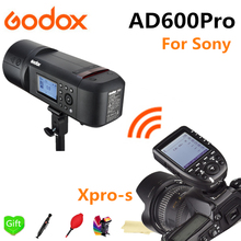 купить Godox AD600Pro TTL Li-Battery 2.4G Wireless X System Outdoor Studio Flash Strobe Light for Sony Camera + Xpro-S Flash Trigger по цене 70211.43 рублей