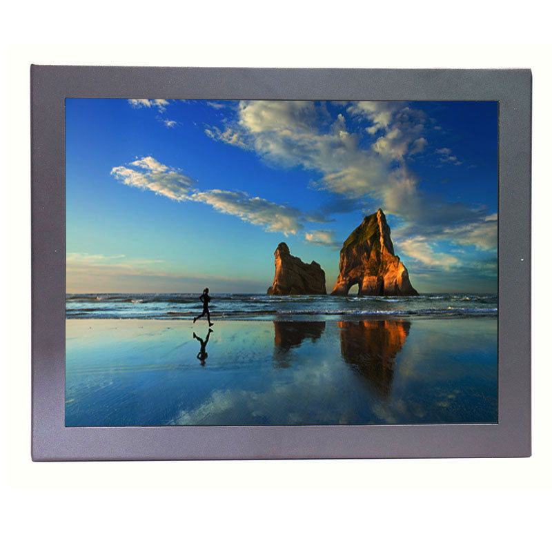 12 Inch Touch Display Metal Case TFT LCD Monitor 1024*768 Industrial Capacitive Touch Monitor With AV/BNC/VGA/HDMI/USB input
