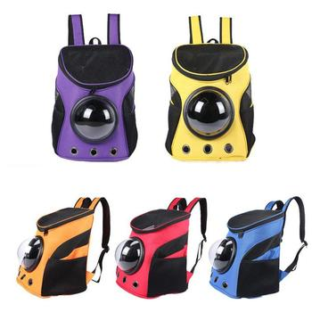 Portable Breathable Dog Backpack Durable Pet Carriers Cat Dog Space Capsule Large Capacity Travel Pet Shoulder Bag