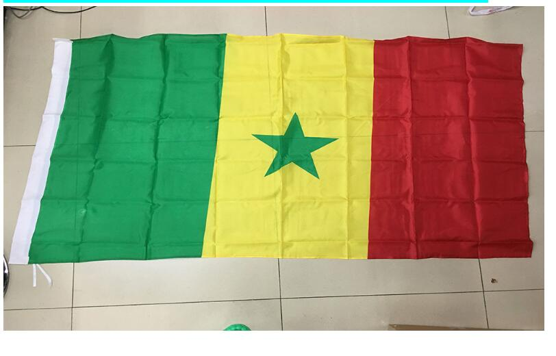 free shipping xvggdg 90x150cm Senegal flag 3x5 Feet Super Poly football FLAG Indoor Outd ...