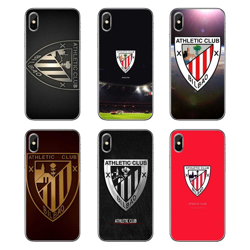 For Xiaomi Mi A1 A2 5X 6X 8 lite SE Pro Max Mix 2 2S 3 Mi5 Mi5S athletic club bilbao fc logo Transparent Soft Cases Covers
