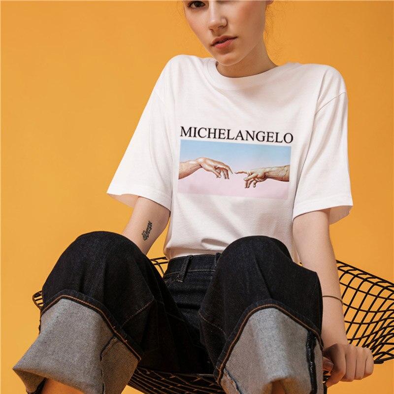Michelangelo Cappella Sistina T shirt Harajuku Ulzzang Tumblr Women T-shirt Kawaii T shirt Femme 2018 Summer Casual Tops Tee 1