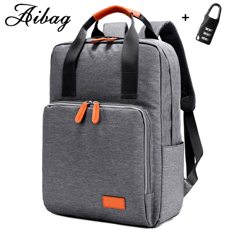 AIBAG Laptop Backpack for 13 inch Computer Backpacks Male Waterproof Men Bussines Laptop Women Travel bags Send Password lock 14 15 15 6 inch flax linen laptop notebook backpack bags case school backpack for travel shopping climbing men women