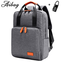 AIBAG Laptop Backpack For 13 Inch Computer Backpacks Male Waterproof Men Bussines Laptop Women Travel Bags