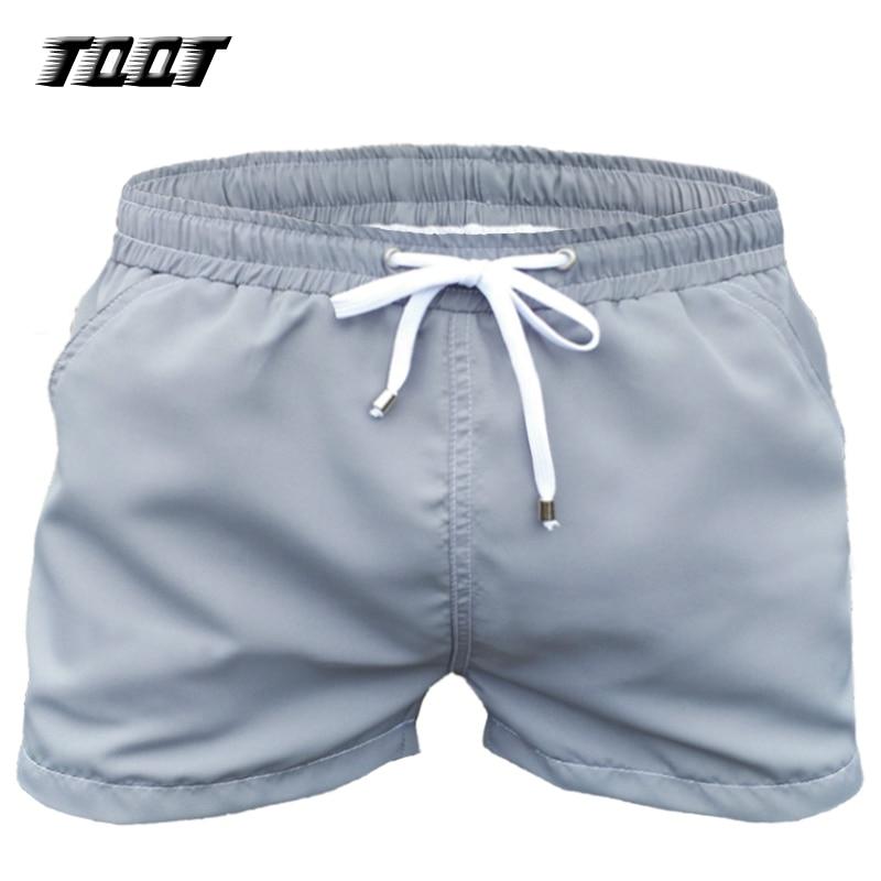 eea34fad38 TQQT Shorts Sunga Dos Homens do Design Simples Em Linha Reta Praia ...