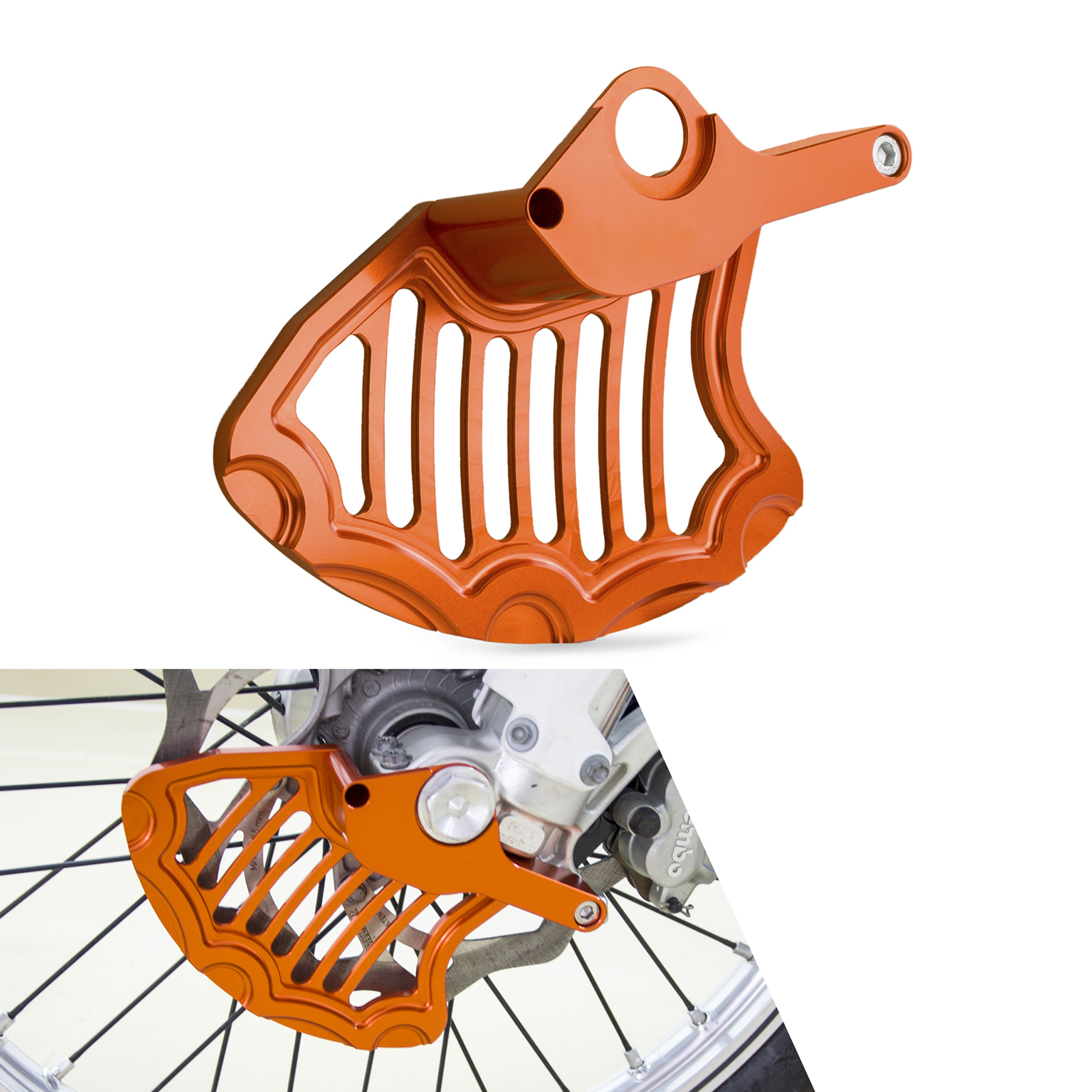 NICECNC Front Brake Disc Rotor Guard Cover For KTM 125 150 200 250 300 350 400 450 500 530 SX SX-F EXC EXC-F XC XC-F XC-W XCF-W