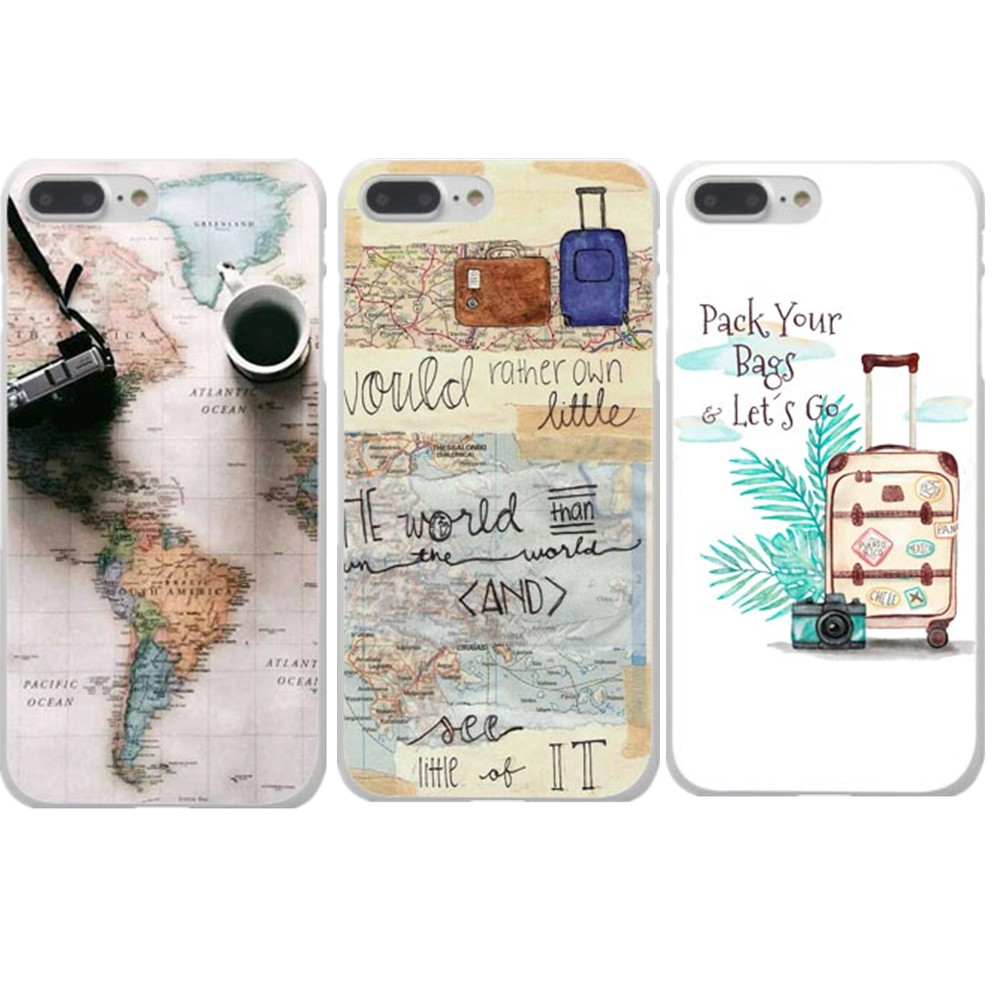 World Map Travel Plans Hard Phone Case Cover For Iphone X