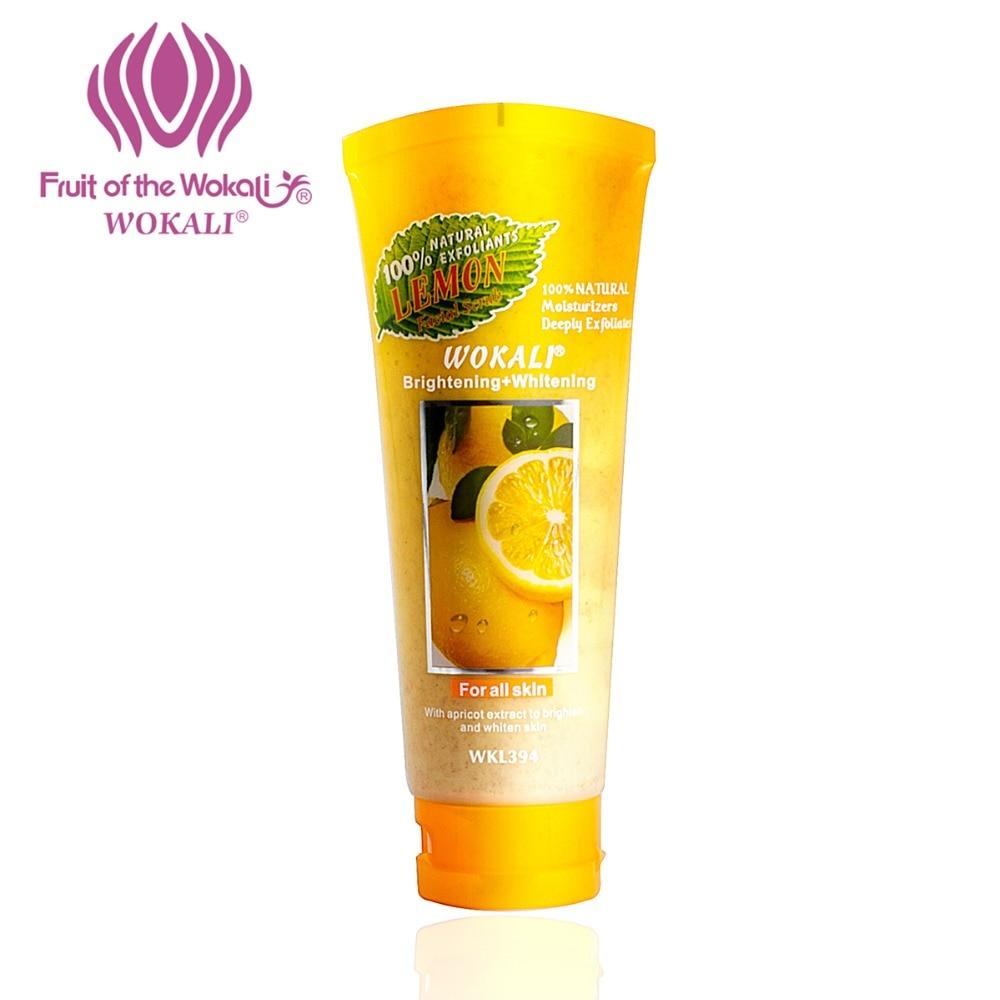 WOKALI 100g Natural Exfoliating Scrub Whitening Moisturizing Body Lemon Milk Peeling Cream Scrub Gel