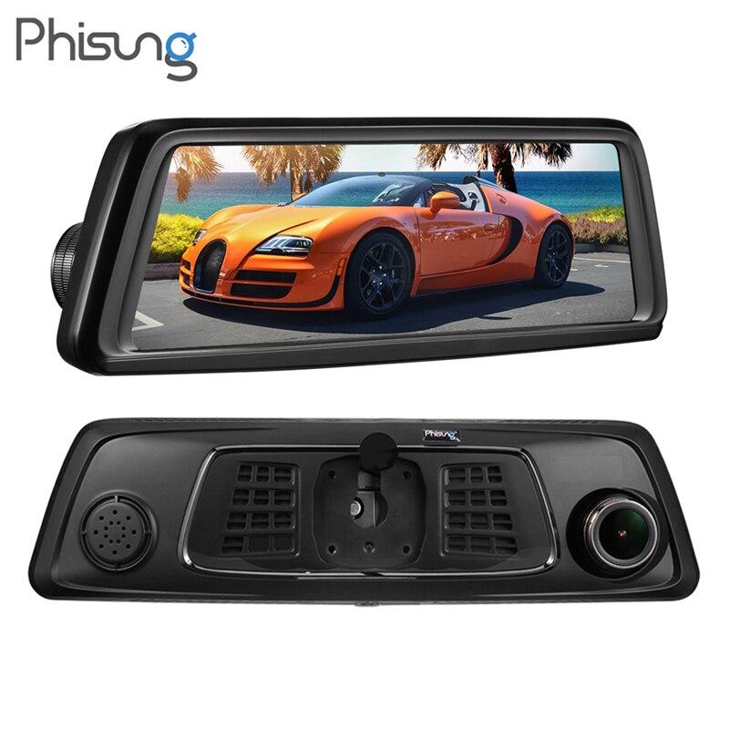Phisung V9 9,88 дюймов ips 4 г Wi Fi 1296 P HD Автомобильный Зеркало заднего вида DVR 4 Камера gps навигации регистраторы ночное видение видео Регистраторы