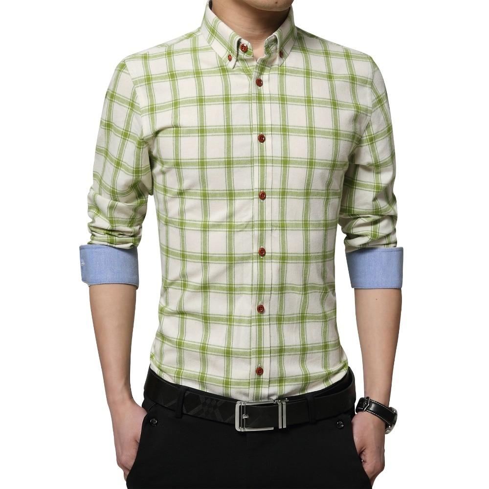 Shirt design for mens - Plus Size 5xl 2016 New Autumn Mens Designer Checked Shirts Plaid Pattern Color Stripe Long Sleeve