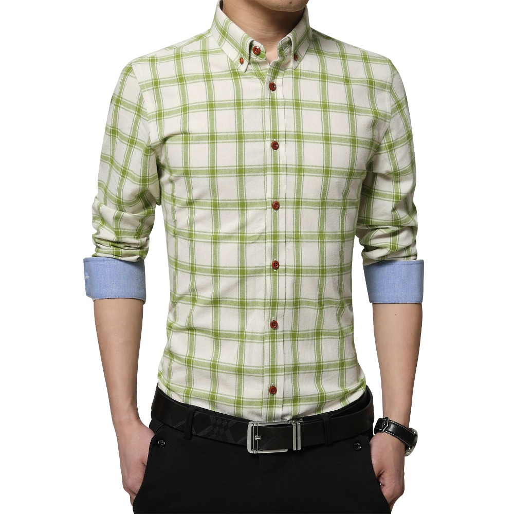 Shirt design china - Plus Size 5xl 2016 New Autumn Mens Designer Checked Shirts Plaid Pattern Color Stripe Long Sleeve