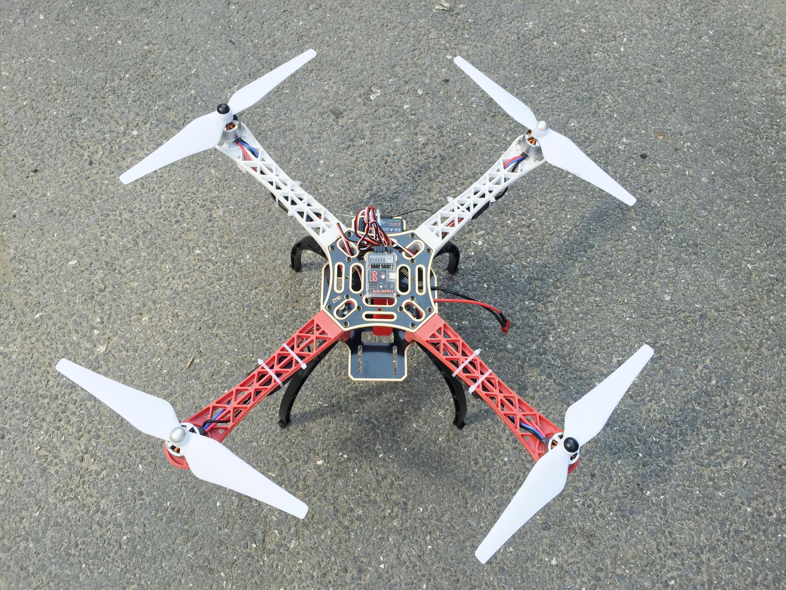 Kit Drone Aerops F450 quadrirotor avec 2212 moteurs 920kV Emax 30A ESC accessoires Naze32 FSi6 déassembler