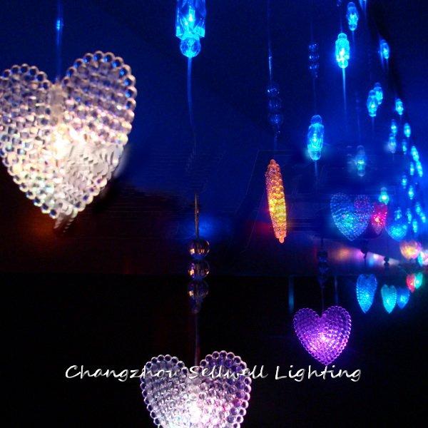 Bon! vacances lumière magasin mariage maison décoration 3 m cristal perle rideau lampe à LED H150