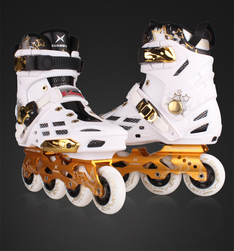 цена  XUANWU X7 Inline Skates Adult Ice Skate Shoes PPC Roller Skate Shoes Pro Men or Women Figure Skating Slalom Shoes  онлайн в 2017 году
