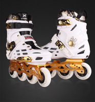 XUANWU X7 Patins À Roues Alignées Adulte De Patins À Glace Chaussures PPC Patin À Roulettes Chaussures Pro Hommes ou Femmes Figure De Patinage de Slalom Chaussures