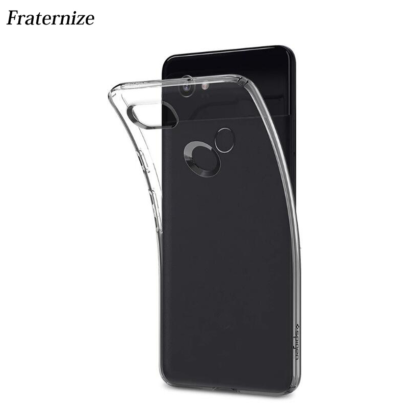 For Google Pixel 2 Transparent Silicone case ltra Clear Soft TPU Back Cover For Google Pixel2 XL crystal camera Protective cases image