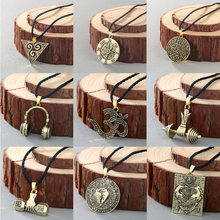 Cxwind Retro Slavic Talisman Charm Symbol Necklace Geometric Round Kolovrat Pendant Viking Men Jewelry Triangle Yoga Necklaces(China)