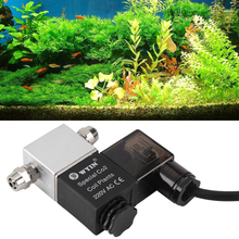 1 шт. Co2 Магнитный Соленоидный клапан ночное время отрезать для рыбьего сада Tooltank аквариум Соленоидный клапан 1,6 Вт ЕС/США/au/Великобритания Тип штепсельной вилки