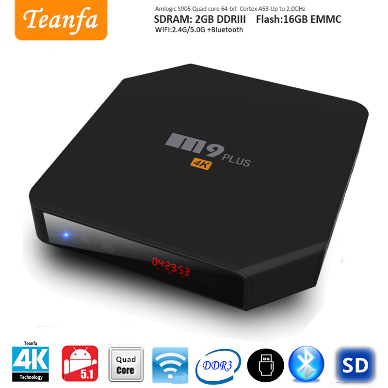Android5.1.1 Smart Android TV Box Amlogic S905 Quad Core 2GB/16GB WiFi Bluetooth Airplay Miracast Media Player DOLBY TrueHD DTS 2017 android 6 0 top box m92s note wifi media player amlogic s912 quad core cortex a53 smart android tv box caja de tv androide