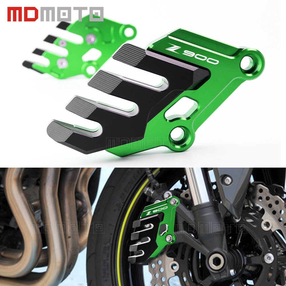 CNC Aluminum Motorcycle Accessories Front Brake Disc Caliper Brake caliper Guard Protector Cover For Kawasaki Z900 Z 900 2017 free shipping hot sale for kawasaki z900 z 900 motorcycle accessories rear brake fluid reservoir cap oil cup